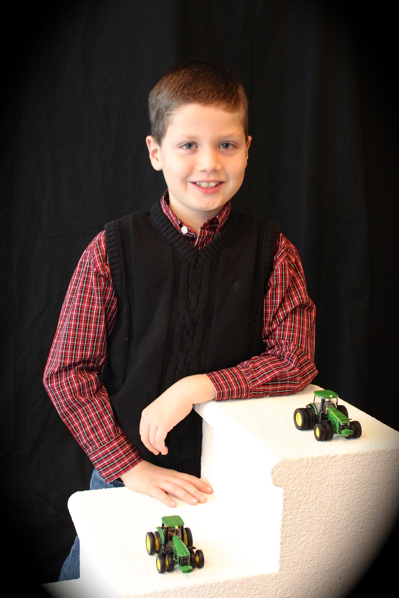 Farmer Jr Number 2; 8 years old and working at 2nd grade level