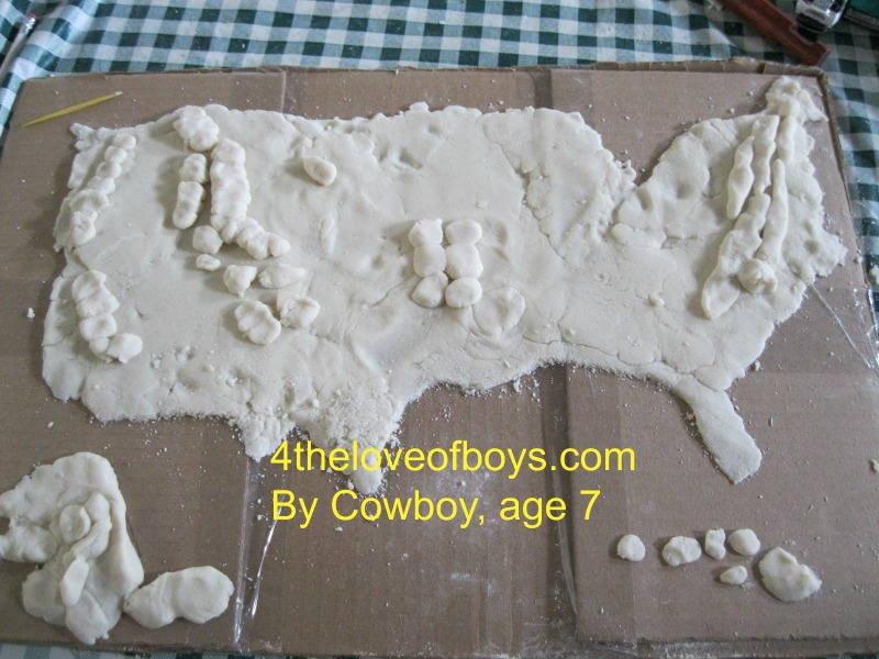 salt dough maps 2 | 4theLoveofBoys